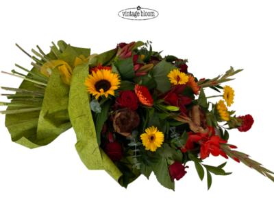 Funeral Flowers Natural casket spray