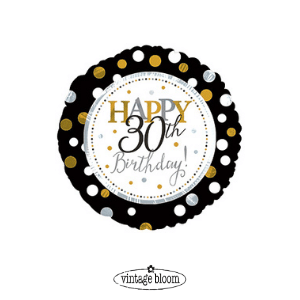 30th Birthday Helium Balloon