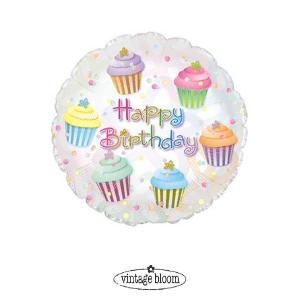 Happy Birthday Helium Balloon Cake