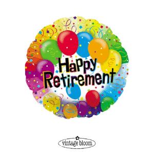 Happy Retirement Helium Balloon
