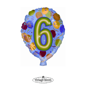 Number 6 Helium Balloon