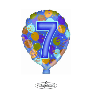 number 7 helium balloon