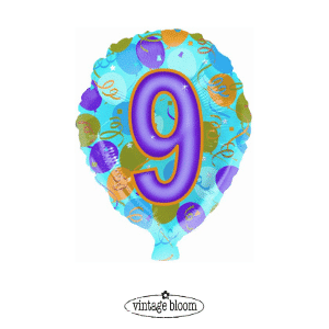 Number 9 Helium Balloon
