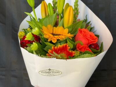 Vintage bloom Tokoroa florist brights bunch bouquet
