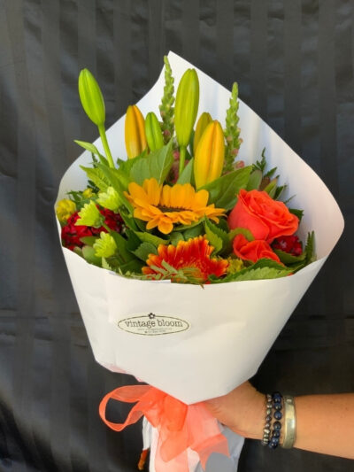 Vintage bloom Tokoroa florist brights bunch bouquet
