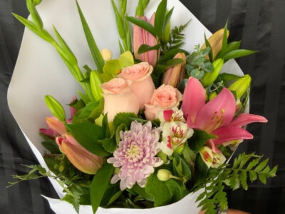 Vintage bloom Tokoroa florist pastels bunch bouquet