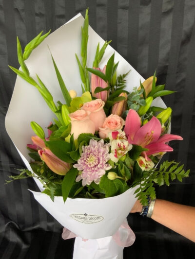 Vintage bloom Tokoroa florist pastels bunch bouquet